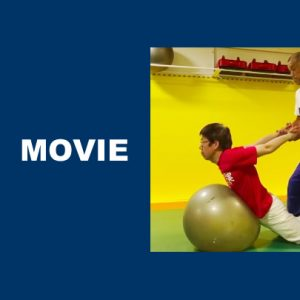 バランスボールで無意識の運動指令を引き出す