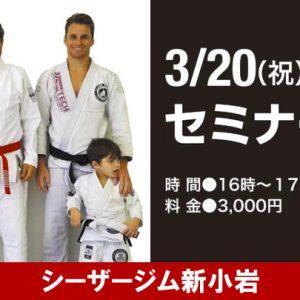 3/20 (祝) 新小岩セミナー開催